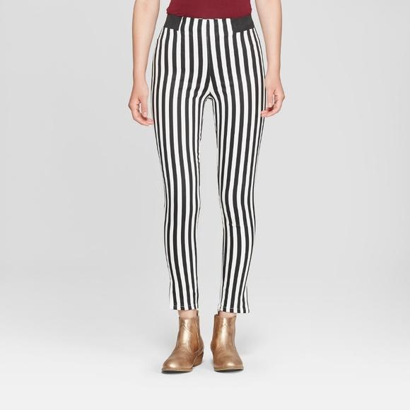 645931a39e639 Junk Food Clothing Pants | Junk Food Womens Striped Leggings Black ...